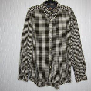 Tommy Hilfiger Checkered Button-Down Shirt Size XL